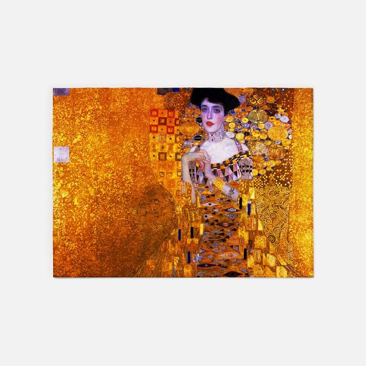 Klimt: Adele Bloch-Bauer I. 5'x7'Area Rug