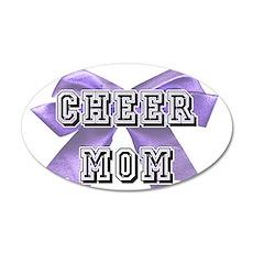 Purple Cheer Mom Wall Decal