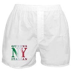 Queens New York Italian Boxer Shorts