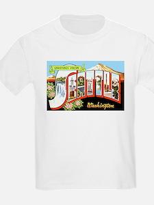 Seattle Washington Greetings (Front) Kids T-Shirt