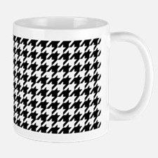 Houndstooth White Mug