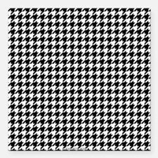 """Houndstooth White Square Car Magnet 3"""" x 3"""""""