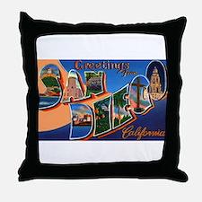 San Diego California Greetings Throw Pillow