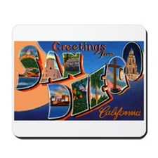 San Diego California Greetings Mousepad