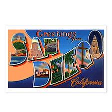 San Diego California Greetings Postcards (Package