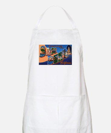 San Diego California Greetings BBQ Apron