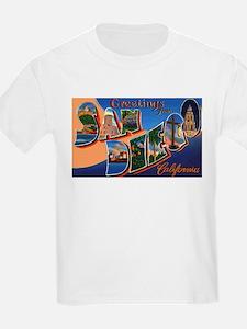 San Diego California Greetings (Front) Kids T-Shir