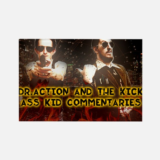 Doc and Kid Action Kings Rectangle Magnet
