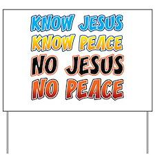 KnowJesus copy Yard Sign