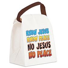 KnowJesus copy Canvas Lunch Bag