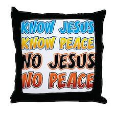 KnowJesus copy Throw Pillow