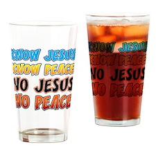 KnowJesus copy Drinking Glass