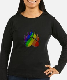 RAINBOW STRIPED BEARPAW/TILE3 T-Shirt