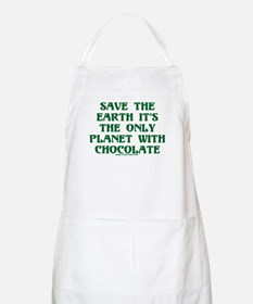 Save the Earth It's the Only  BBQ Apron