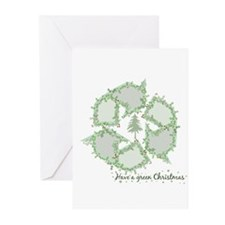 Green Christmas Greeting Cards (Pk of 10)