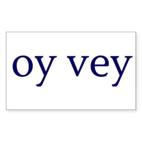 Oy Vey Rectangle Sticker