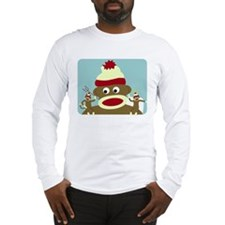 Sock Monkey Angel & Devil Long Sleeve T-Shirt
