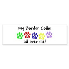 Border Collie Walks Bumper Bumper Sticker