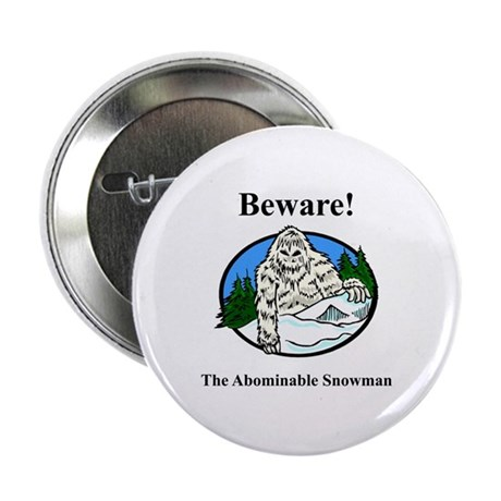 """Abominable Snowman 2.25"""" Button (100 pack)"""