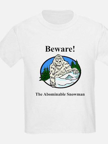 Abominable Snowman Kids T-Shirt