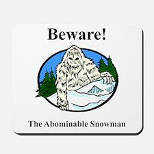Abominable Snowman Mousepad