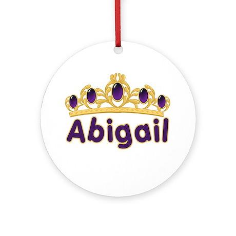 Princess Tiara Abigail Personalized Ornament (Roun