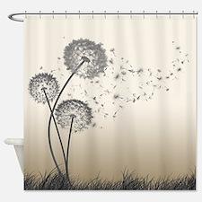 Dandelion Shower Curtains Dandelion Fabric Shower Curtain Liner