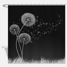 Dandelion Wishes Shower Curtain