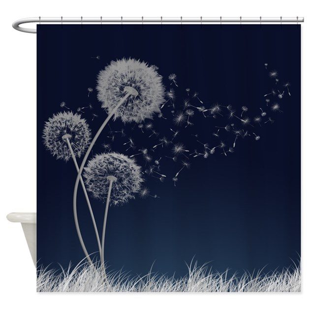 dandelion wishes shower curtain by thehappymuse