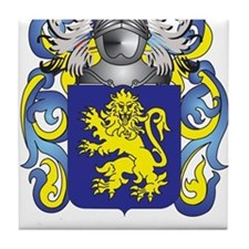 Evans Coat of Arms Tile Coaster