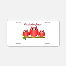 Red Owls Customize Aluminum License Plate