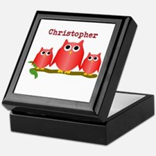 Red Owls Customize Keepsake Box
