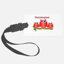 Red Owls Customize Luggage Tag