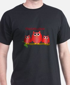 Red Owls Customize T-Shirt