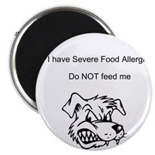"Don't feed me Food Allergy 2.25"" Magnet (10 p"