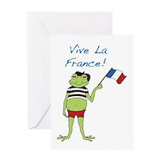 Viva La France Greeting Card