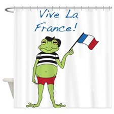Viva La France Shower Curtain