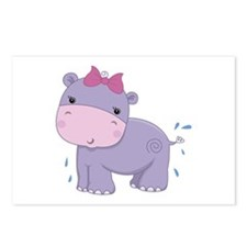 Baby Safari Hippo Postcards (Package of 8)
