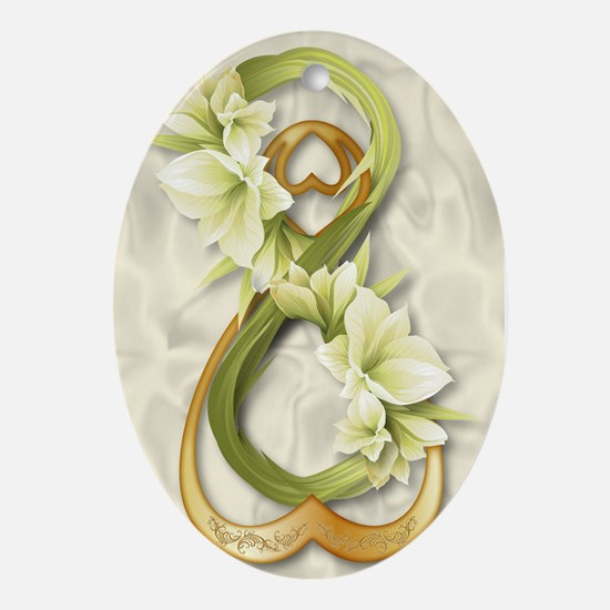 Double Infinity Gold With Cowliliy - 1 Ornament (O