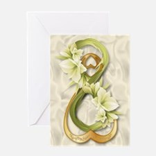 Double Infinity Gold Heart &Cowliliy Greeting