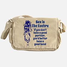 Sex is like Euchre Messenger Bag