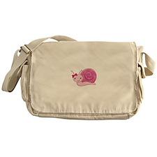 Pink Baby Snail Messenger Bag