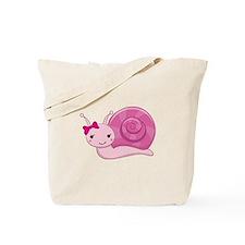 Pink Baby Snail Tote Bag