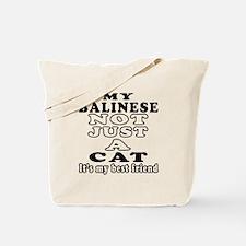 Balinese Cat Designs Tote Bag