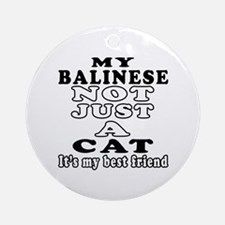 Balinese Cat Designs Ornament (Round)