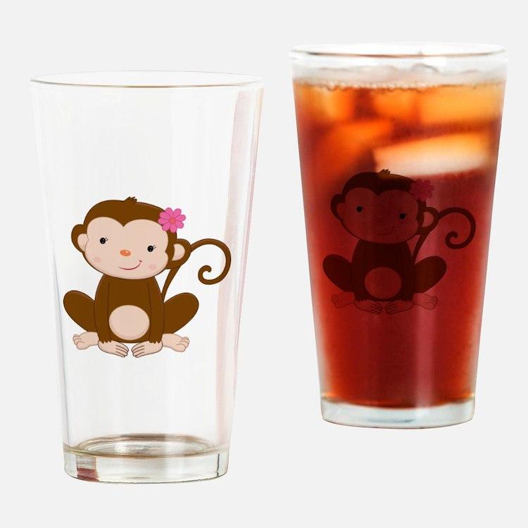 Baby Monkey Drinking Glass
