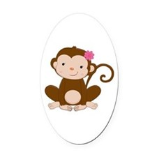 Baby Monkey Oval Car Magnet