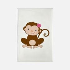 Baby Monkey Rectangle Magnet