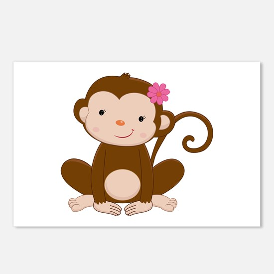 Baby Monkey Postcards (Package of 8)