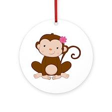 Baby Monkey Ornament (Round)